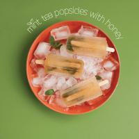 Mint Tea Popsicles with Honey