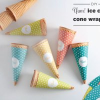 National Ice Cream Cone Day | DIY Wrappers