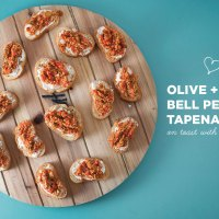 Olive and Red Bell Pepper Tapenade
