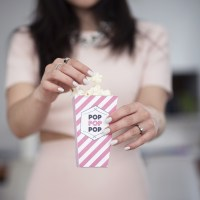 Pretty Pink Popcorn Boxes (Free Printable Template)!