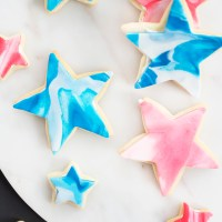 Red, White, and Blue Fondant Sugar Cookies!