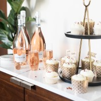 Rosewater Cupcakes Paired with Lunetta Rosé: #PopTheLunetta