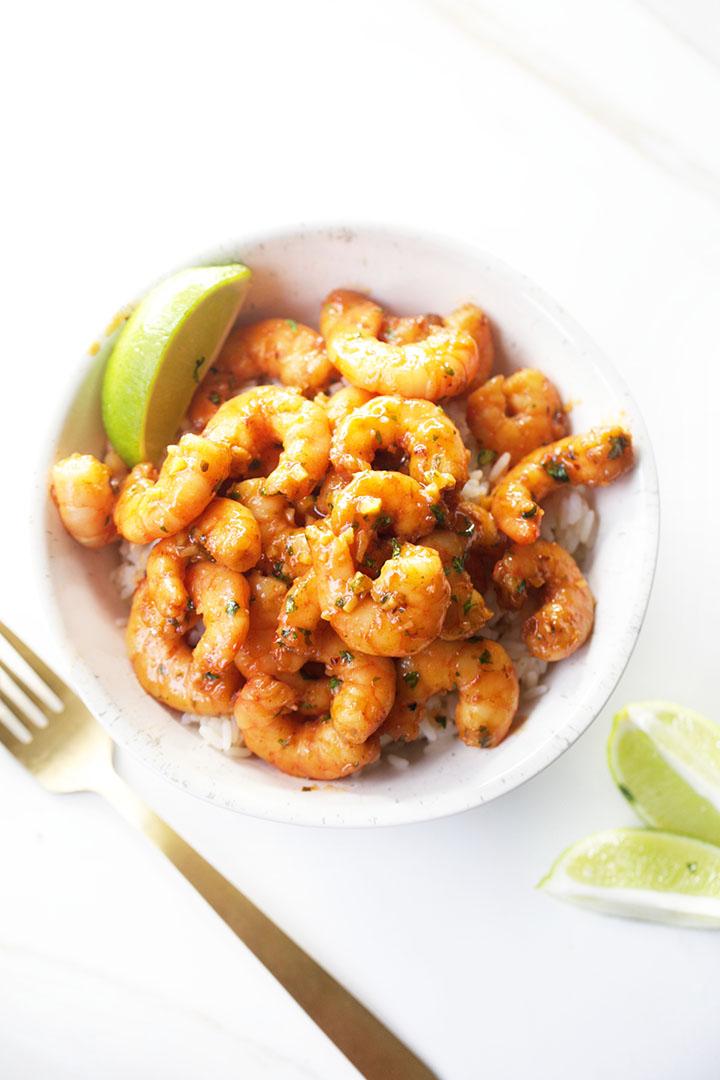 Honey Cilantro Lime Shrimp