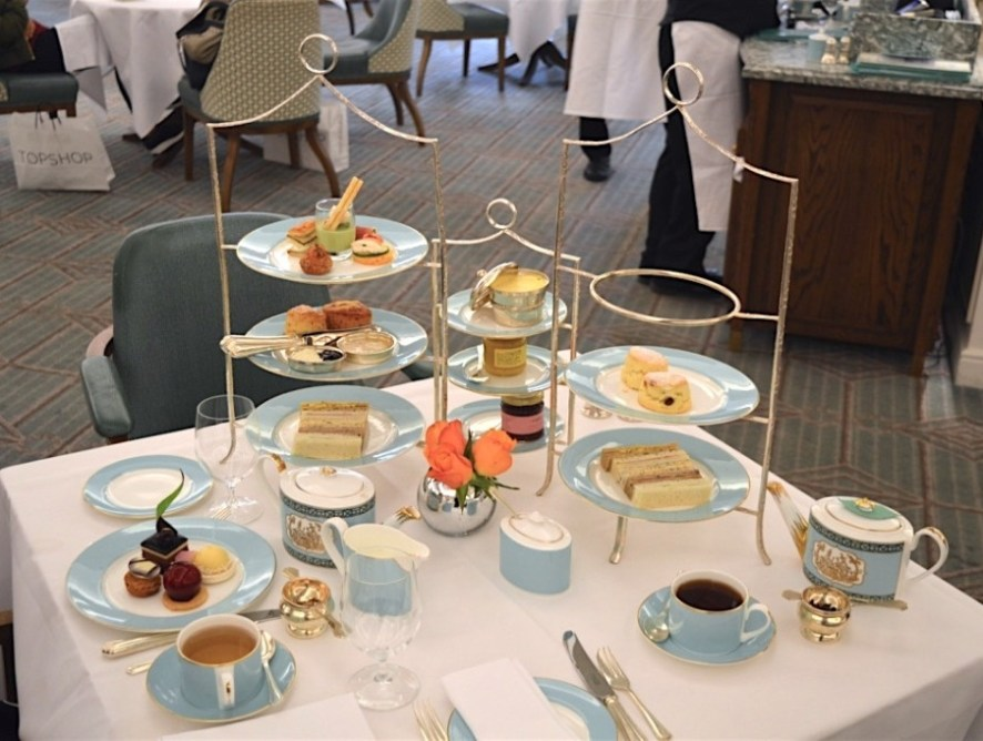 Afternoon tea at Fortnum & Mason: a British classic.