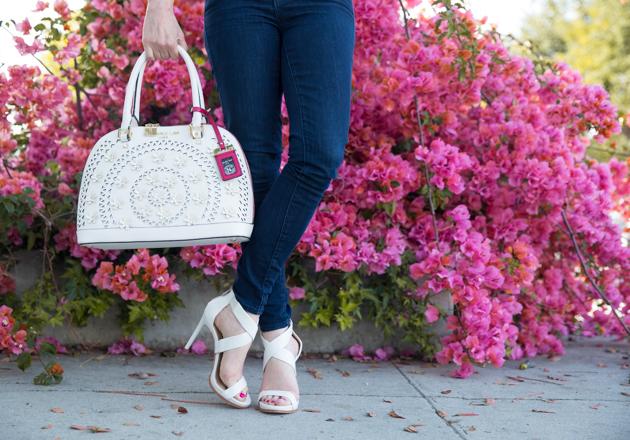 Nicole Lee Laser Cut Handbag