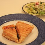 Gluten-Free Grilled Cheese Pizza with Chopped Salad