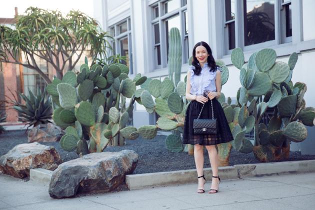 Lisa Valerie Morgan wears Shein Striped Top