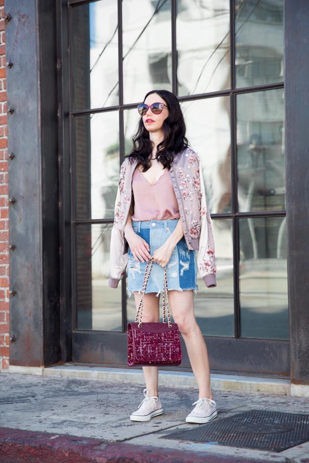 Bomber Jacket and Mini Skirt - Pretty Little Shoppers Blog