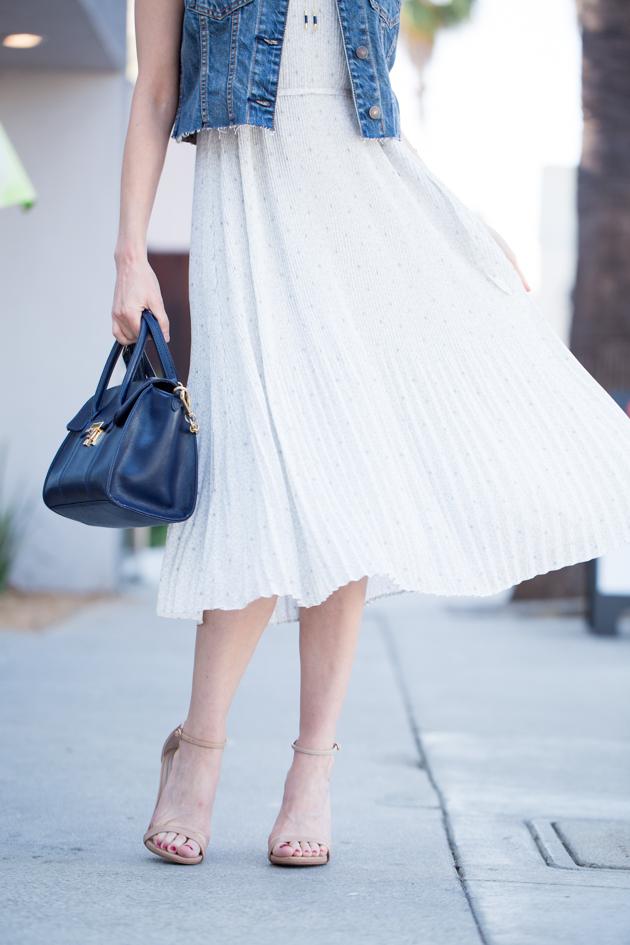 Abercrombie & Fitch Chiffon Pleated Midi Dress