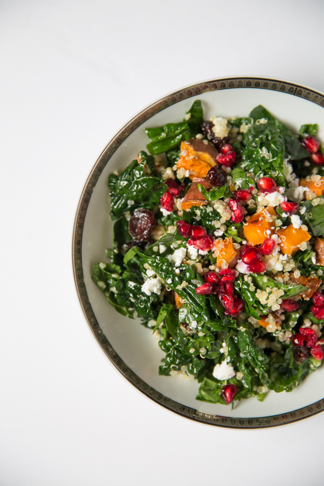 Winter Salad with Quinoa, Sweet Potatoes and Kale - Pretty Little Shoppers Blog