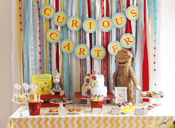Curious George Birthday Party  Pretty My Party