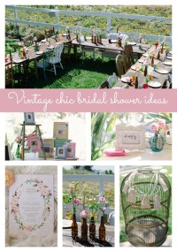 Vintage Chic Bridal Shower - Pretty My Party