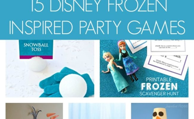 15 Disney Frozen Inspired Party Games Pretty My Party