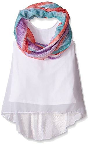 Amy Byer Big Girls' Chiffon Tank Top with Infinity Scarf