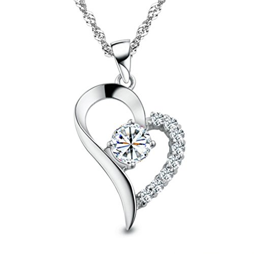 """""""You Are the Only One in My Heart"""" Sterling Silver Pendant Necklace"""