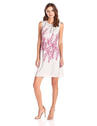 Lark & Ro Women's Sleeveless Garden Print Dress