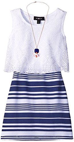 A. Byer Juniors Sleeveless Shirt Dress With Pick Up Ruffle Skirt