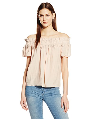 Lucca Couture Women's Crepe Off Shoulder Paperbag Top