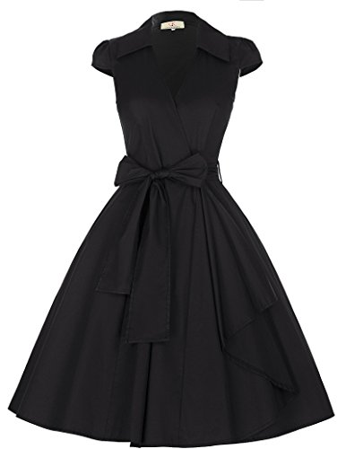 GRACE KARIN® Women's Cap Sleeve Casual Dress Wrap Dresses JS6087
