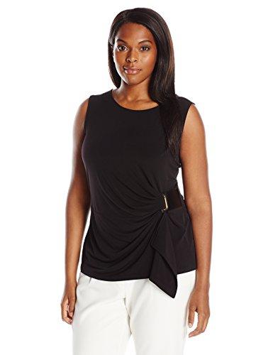 Calvin Klein Women's Plus-Size Sleeveless Wrap Top