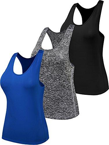 55b2e34f8062d7 Neleus Women s 3 Pack Dry Athletic Training Loose Tank Top