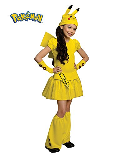 Pokemon Girl Pikachu Costume Dress