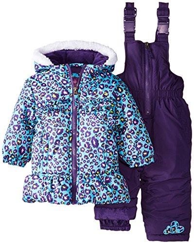 Pink Platinum Baby Girls' All Over Cheetah Snowsuit