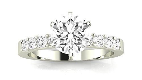 1.75 Carat GIA Certified Round Cut Classic Prong Set Diamond Engagement Ring (I-J Color VVS1-VVS2 Clarity)