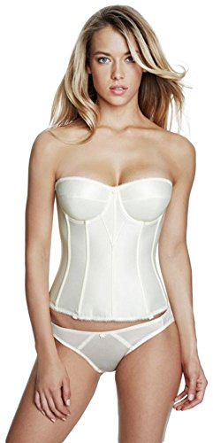 Dominique Satin Torsolette Bridal Bustier Style 8950, Ivory, 34C