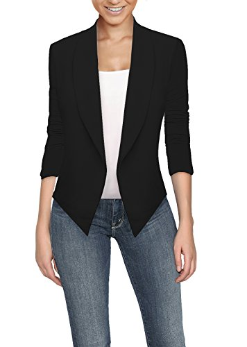 HyBrid Womens Casual Work Office Open Front Cardigan Blazer Jacket Made in USA