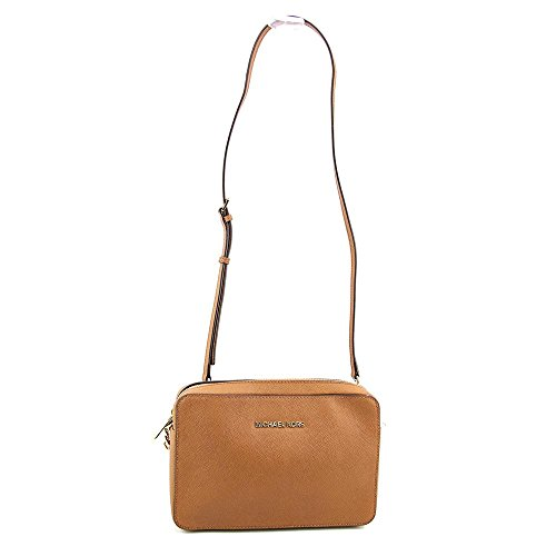 Michael Kors Women's Jet Set Crossbody Leather Bag, Large