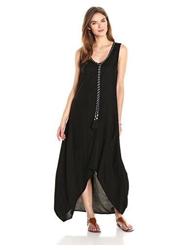 Ella Moon Women's Kaleia Sleeveless Asymmetric Tassel Maxi Dress