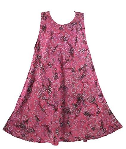 Beautybatik Sleeveless Batik Caftan Summer Tank Dress Cover Up Plus Size