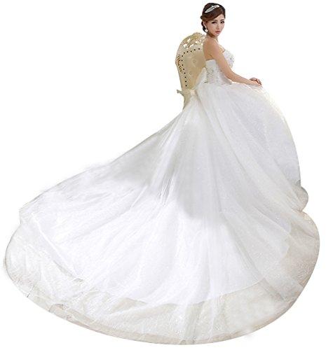 Eyekepper Strapless Train Bridal Gown Wedding Dress For Bride Custom Size