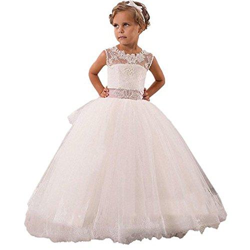Helen Baby Princess Bridesmaid Flower Girls Dresses Wedding Prom Gown073