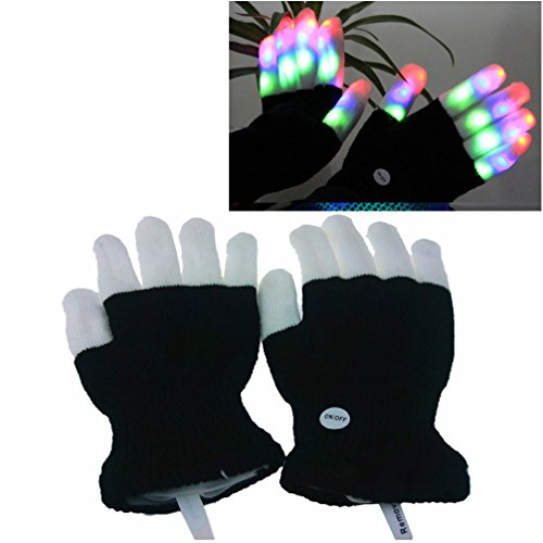 Luwint Children LED Finger Light Gloves – Amazing Colorful Flashing Novelty Toys for Kids