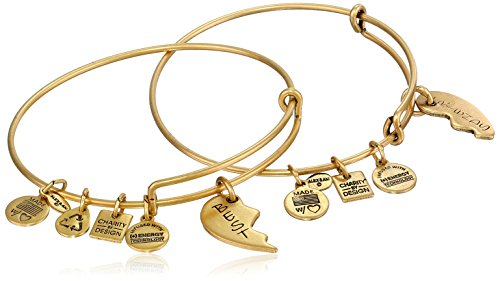 "Alex and Ani ""Charity By Design"" Best Friends Bangle Bracelet, Set Of 2"