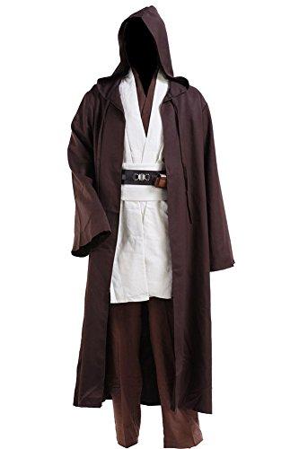 CosplaySky Star Wars Jedi Robe Costume Obi-Wan Kenobi Halloween Outfit Large
