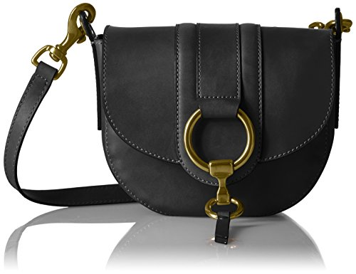 FRYE Ilana Harness Small Saddle Antique Veg Tan, Black