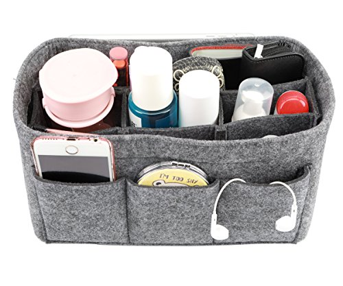 Lexsion Felt Handbag Organizer ,Insert purse organizer Structure Shaper fits Speedy Gray M