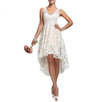 Fishlove Vintage Vestido De Novia High Low Country Lace Bridal Wedding Dresses W51