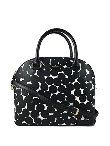 Kate Spade New York Carli Grove Street Splodge Dot Leather Handbag in Black/Cream