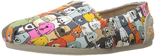 Skechers Bobs from Women's Plush-Wag Party Flat, Multi, 7.5 M US