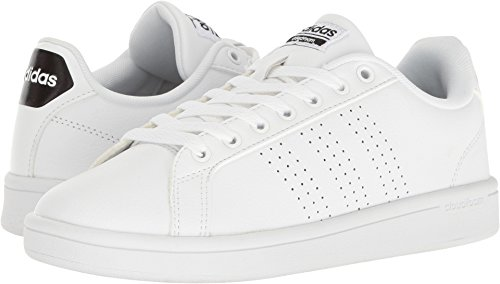 adidas Women's Shoes | Cloudfoam Advantage Clean Sneakers,  White/White/Black, (8 M US) | Pretty Outfits