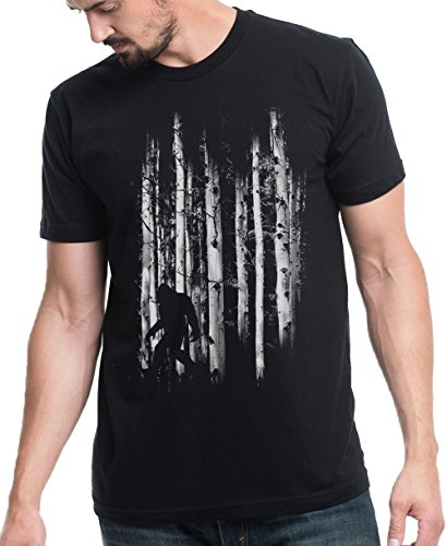 Men's T-Shirt – Bigfoot in the Forest – Men's/Unisex T-Shirt