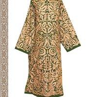 beautiful Uzbek traditional Bukhara outwear costume kaftan caftan robe jacket coat unisex silk embroidered B1381