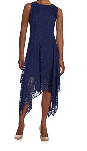 Tommy Hilfiger Women's Burnout Handkerchief Dress, Navy, 10