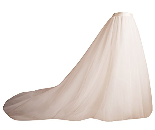 flowerry Ivory Long Train Tutu Tulle Skirt Bridal Skirt Wedding Skirt 2XL