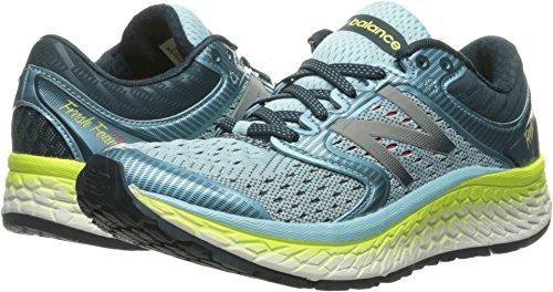 New Balance Women's Fresh Foam 1080v7 Running Shoe, Ozone Blue Glow/Lime Glow, 8 B US