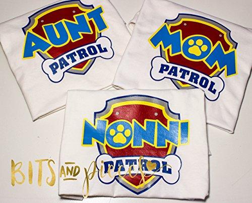 Paw Patrol Birthday Mom Aunt Grandma Shirt First